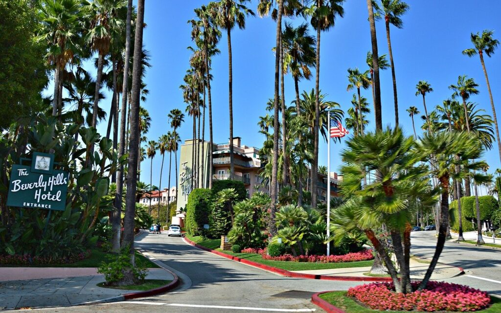 beverly hills hotel, usa, california