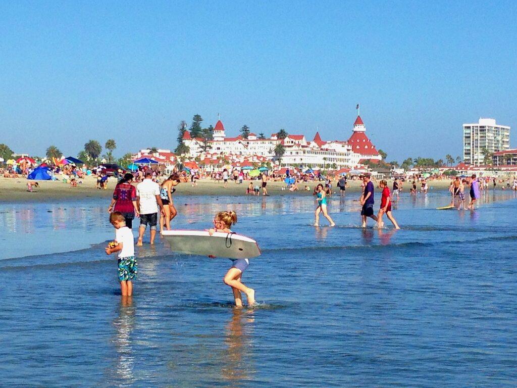 hotel del coronado, san diego, beach