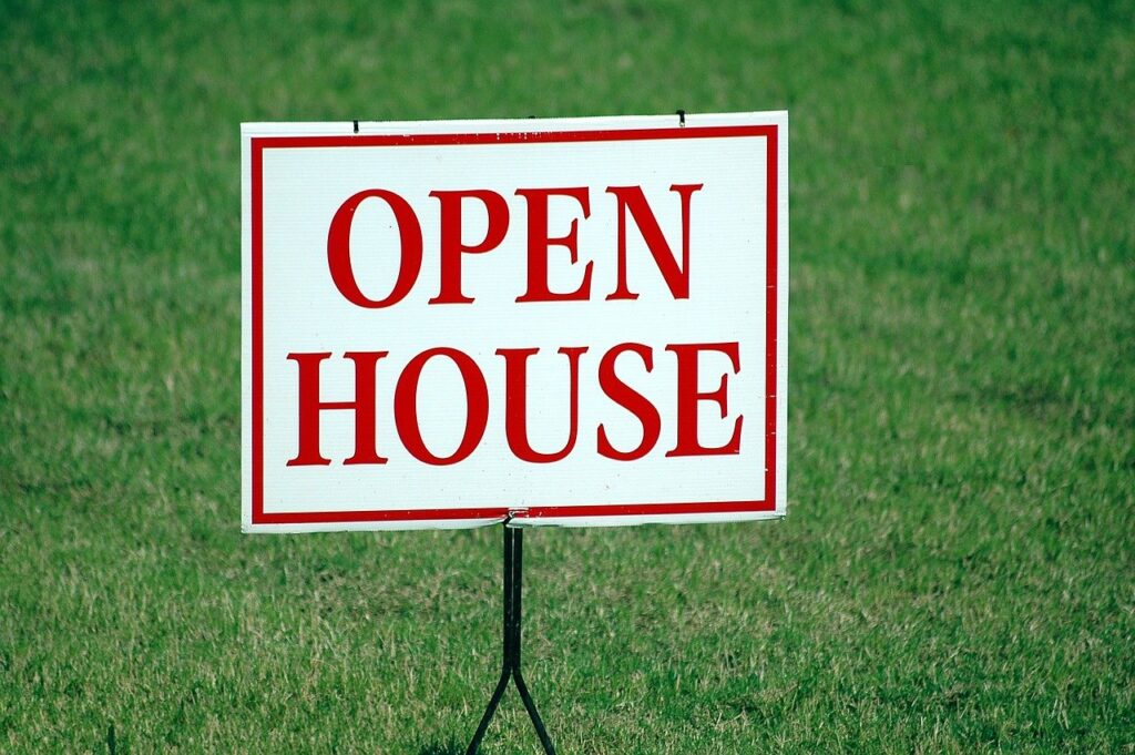 open house, sign, for sale