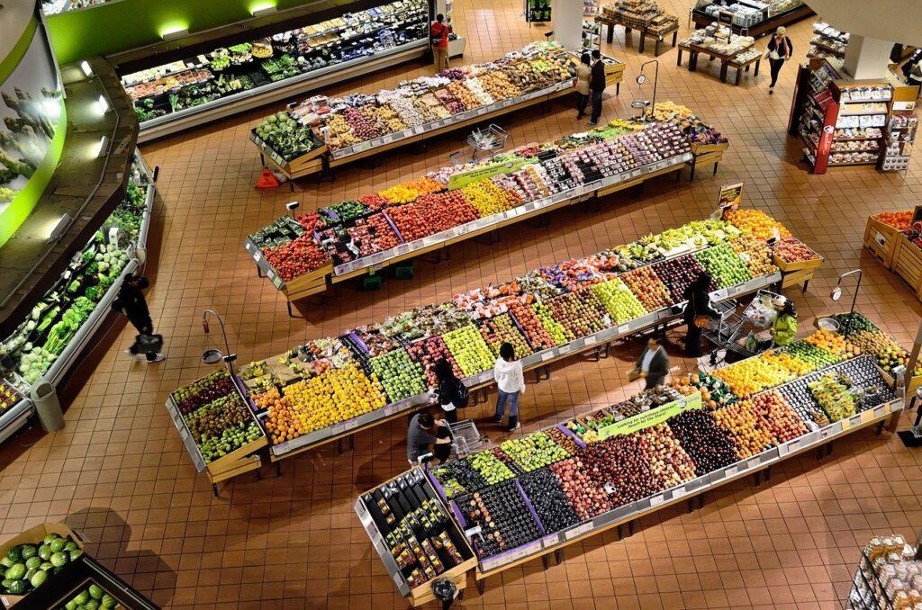 supermarket, stalls, coolers